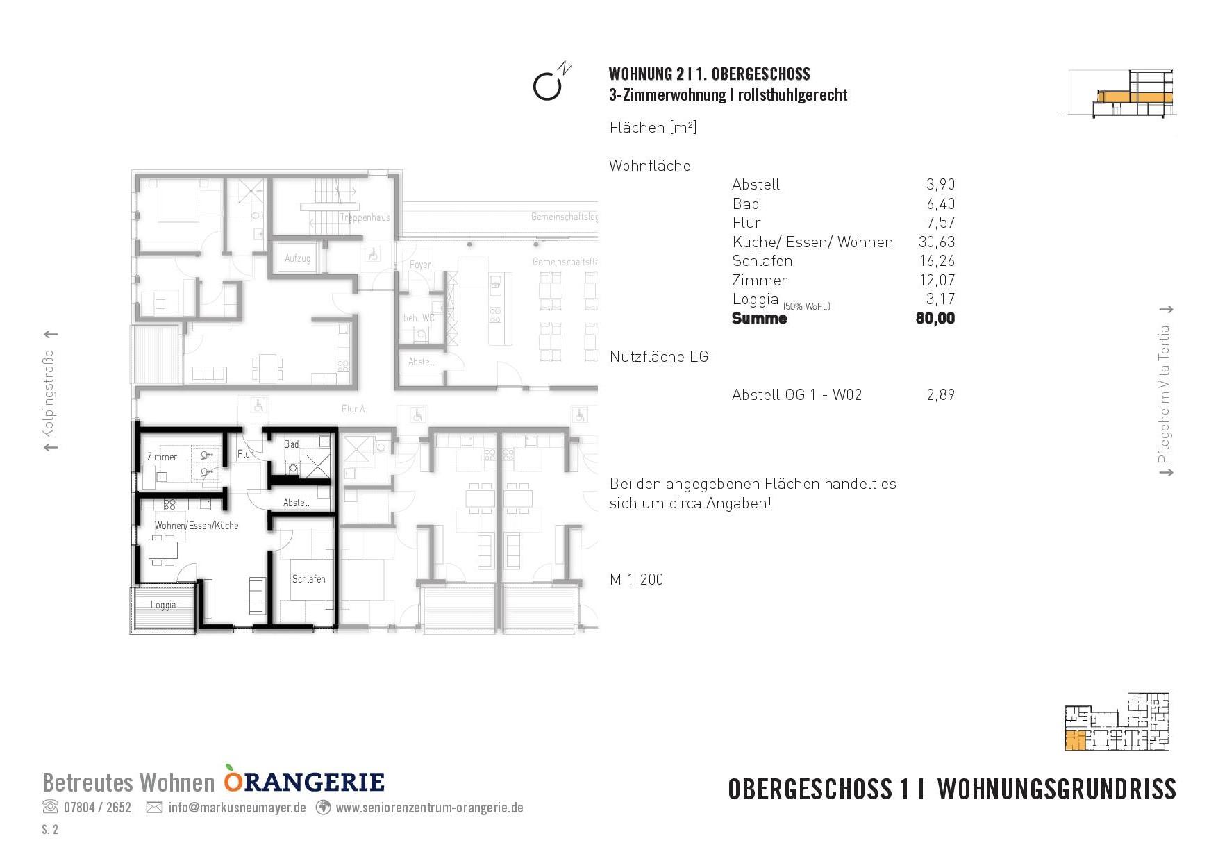 Wohnung Nr. 02 Orangerie
